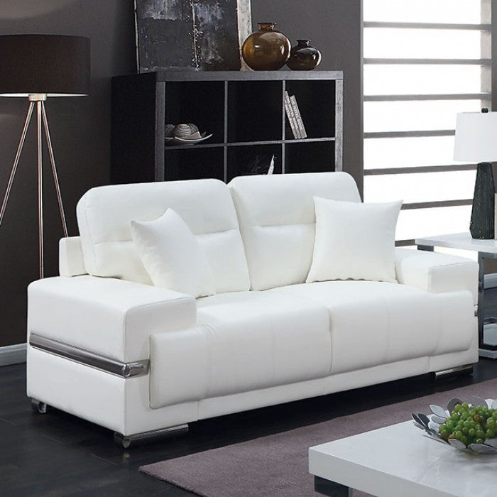 Zibak CM6411WH-LV Love Seat By Furniture Of AmericaBy sofafair.com