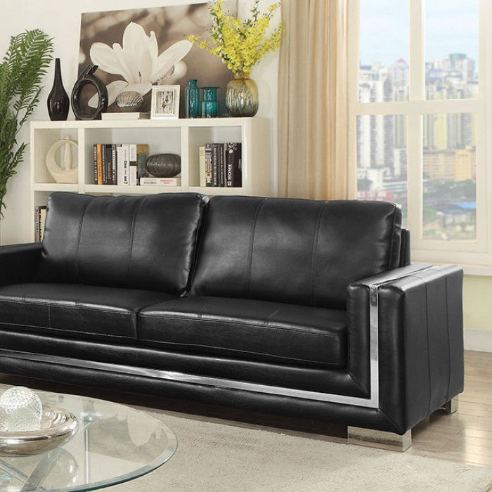 Perla CM6424BK-SF Sofa By Furniture Of AmericaBy sofafair.com