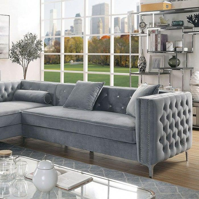 Amie CM6652GY-SECT Sectional By Furniture Of AmericaBy sofafair.com
