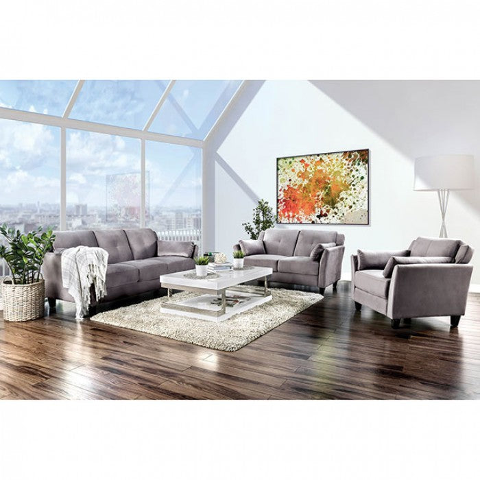 Ysabel CM6716GY-SF Sofa By Furniture Of AmericaBy sofafair.com