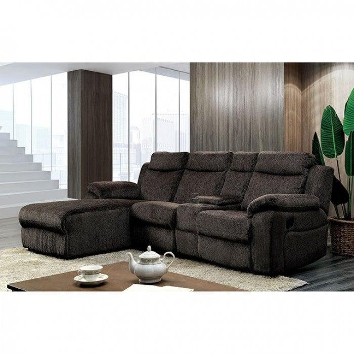 Kamryn CM6771WG Sectional w/ Console By Furniture Of AmericaBy sofafair.com