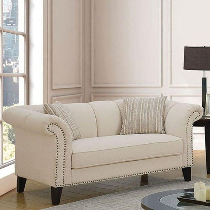 Clarabelle CM6777-LV Love Seat By Furniture Of AmericaBy sofafair.com