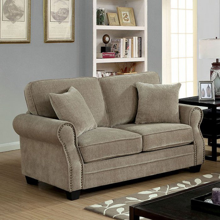 Lynne CM6818-LV Love Seat By Furniture Of AmericaBy sofafair.com