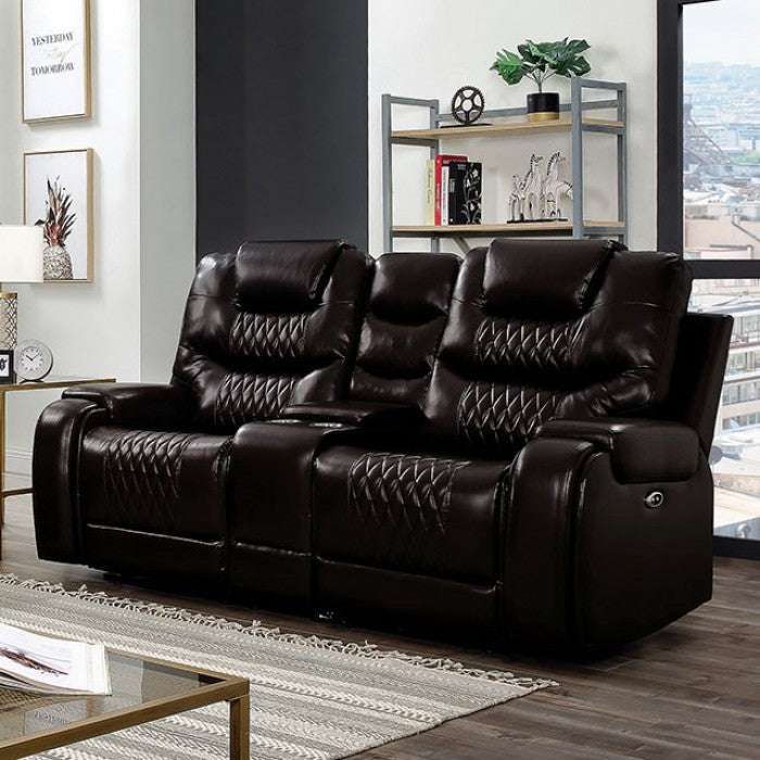 Marley CM6894BR-LV Power Love Seat By Furniture Of AmericaBy sofafair.com