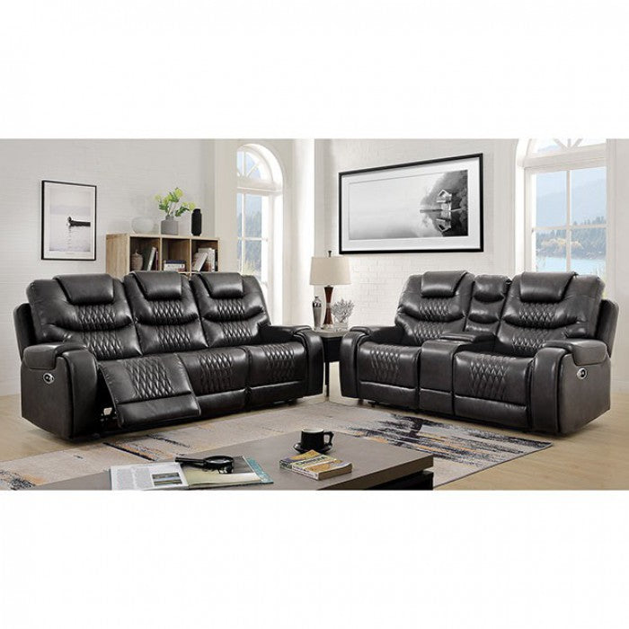 Marley CM6894GY-LV Power Love Seat By Furniture Of AmericaBy sofafair.com