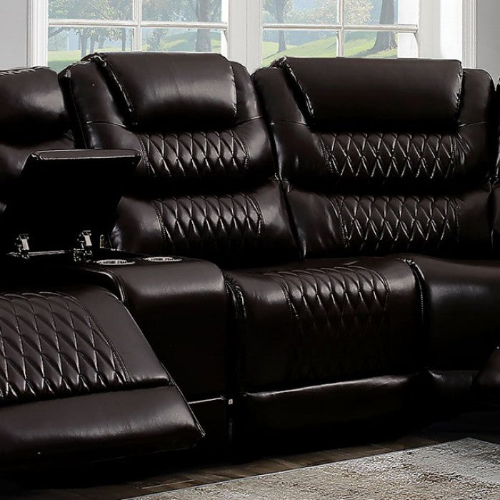 Mariah CM6895BR-AC-R Power Recliner By Furniture Of AmericaBy sofafair.com