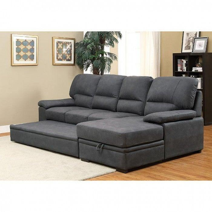Alcester CM6908BK Sectional By Furniture Of AmericaBy sofafair.com