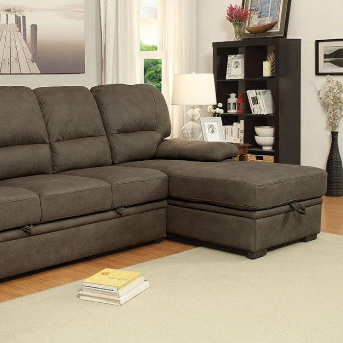 Alcester CM6908BR Sectional By Furniture Of America from sofafair