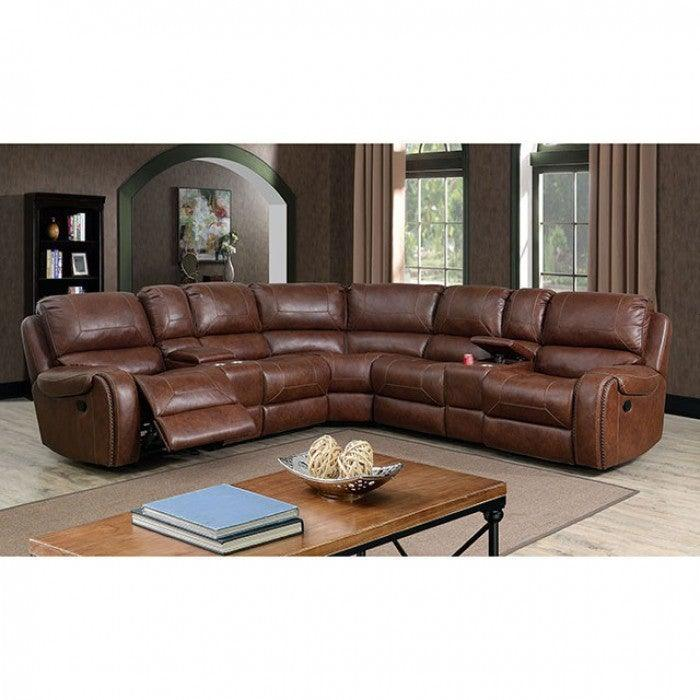 Joanne CM6951BR-SECT Sectional By Furniture Of AmericaBy sofafair.com