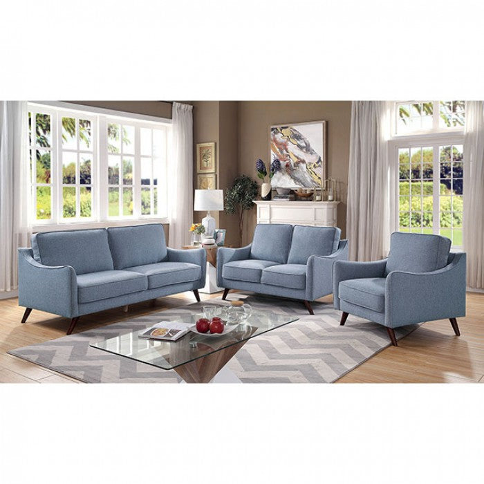Maxime CM6971BL-SF Sofa By Furniture Of AmericaBy sofafair.com