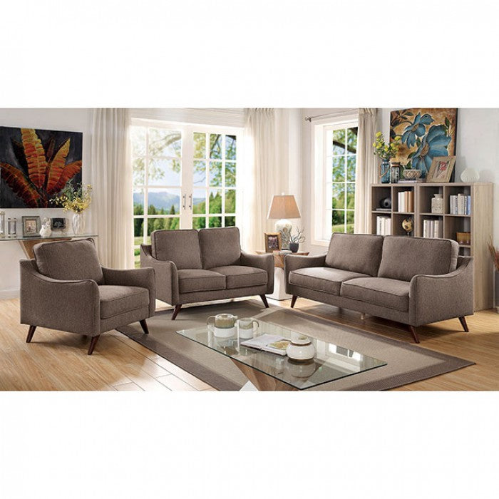 Maxime CM6971BR-LV Love Seat By Furniture Of AmericaBy sofafair.com
