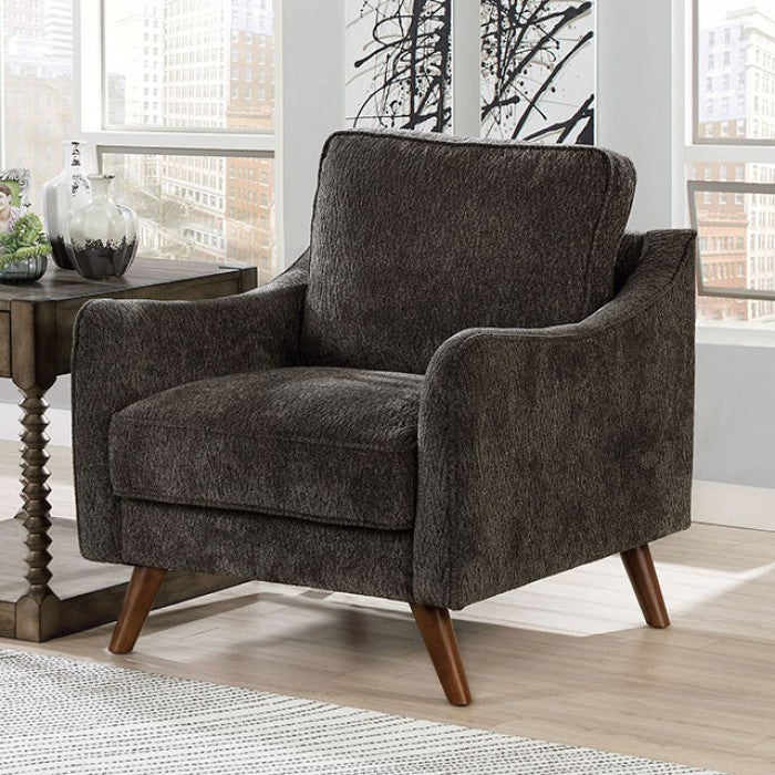 Maxime CM6971DG-CH Chair By Furniture Of AmericaBy sofafair.com