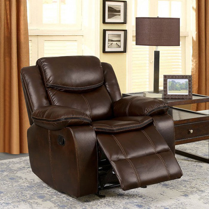 Pollux CM6981BR-CH Recliner By Furniture Of AmericaBy sofafair.com