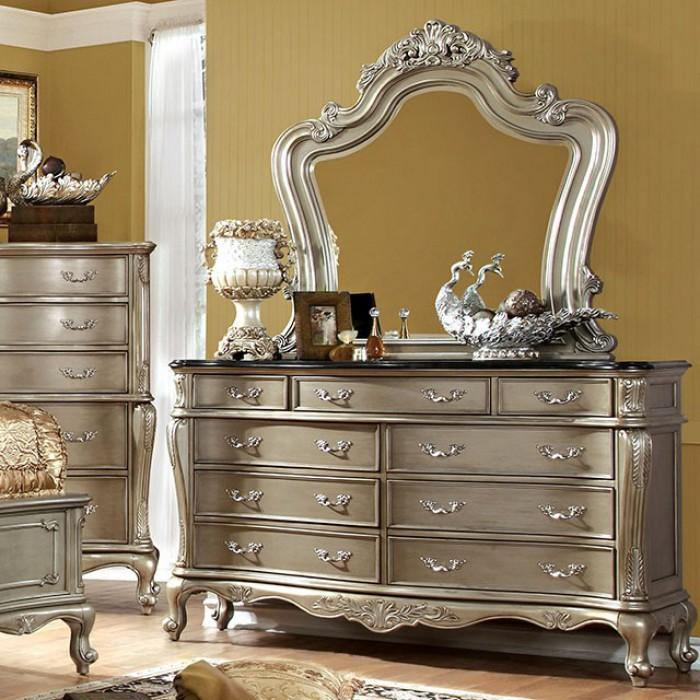 Johara CM7090D Gold/Black Traditional Dresser By furniture of america - sofafair.com