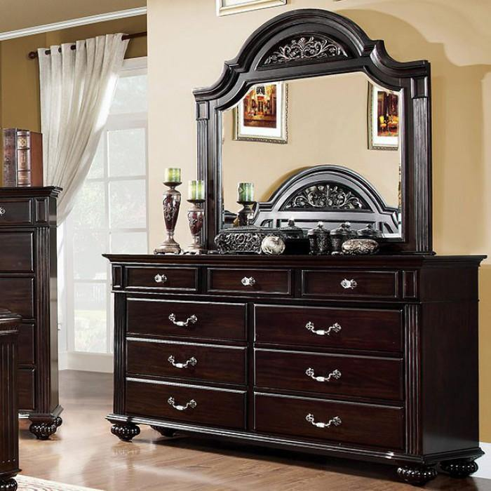 Syracuse CM7129D Dark Walnut Traditional Dresser By furniture of america - sofafair.com
