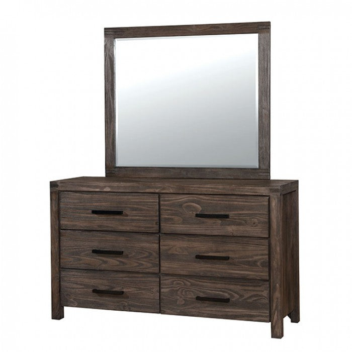 Rexburg CM7382D WireBrushed Rustic Brown Rustic Dresser By Furniture Of America - sofafair.com