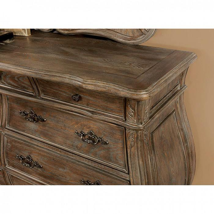 Cursa CM7664D Rustic Natural Tone Traditional Dresser By furniture of america - sofafair.com