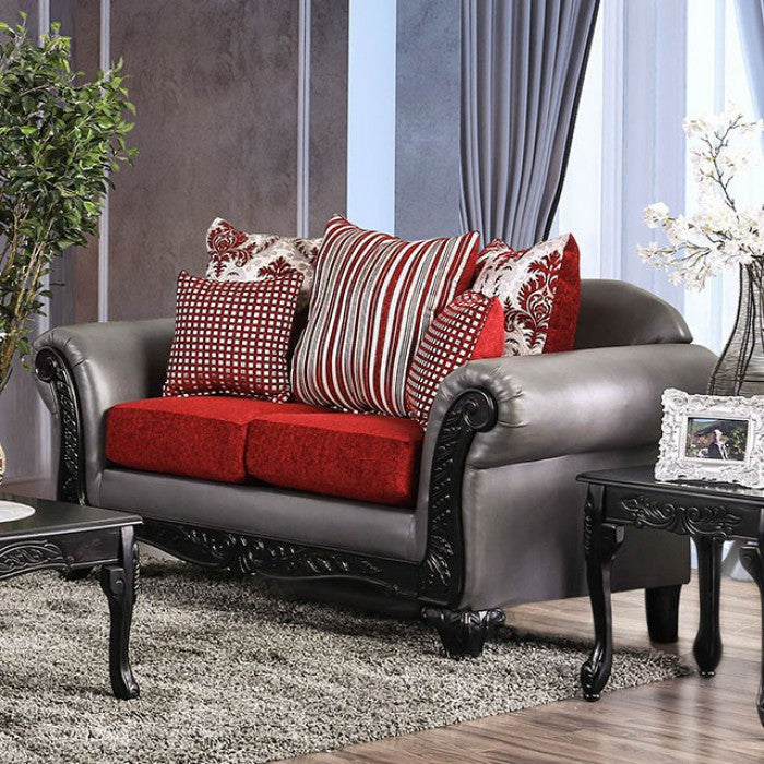 Midleton SM7440-LV Love Seat By Furniture Of AmericaBy sofafair.com