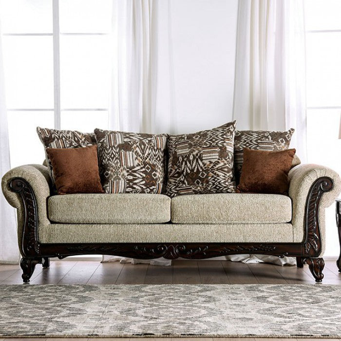 Saoirse SM7644-LV Love Seat By Furniture Of AmericaBy sofafair.com