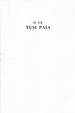 O Le Tusi Paia: White Leather Cover