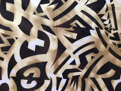 Block pattern - Black/White/Brown