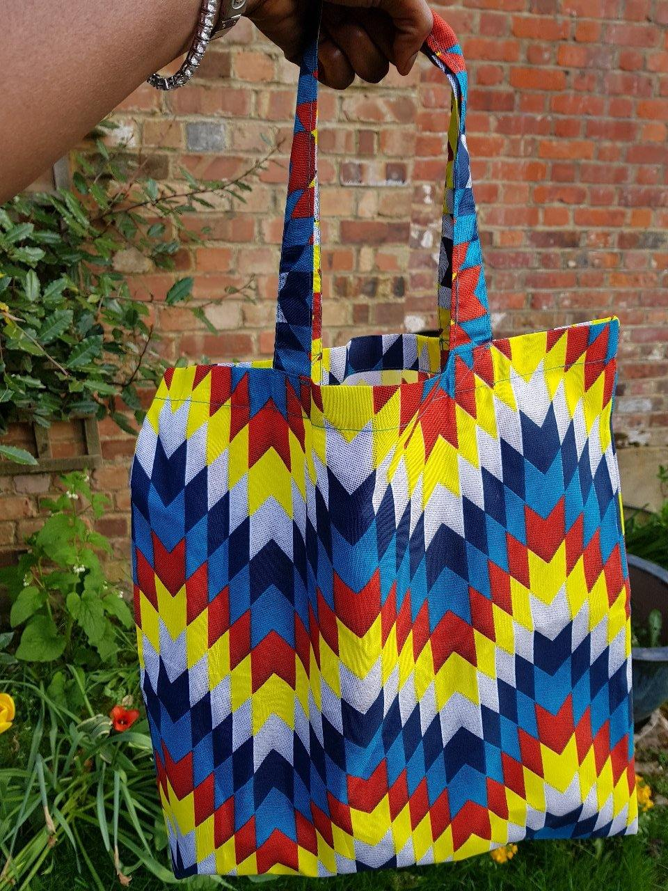 WAA- Ankara Tote Bag(Medium size) - waafashion