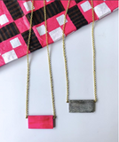 Kipato Unbranded- Pembe Slab Necklace - waafashion