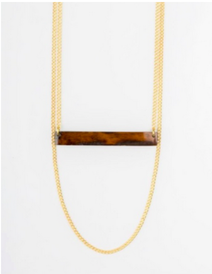 Kipato Unbranded- Twig Loop Necklace - waafashion