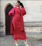 Nuraniya- My Terms Fitted Maxi Dress - waafashion