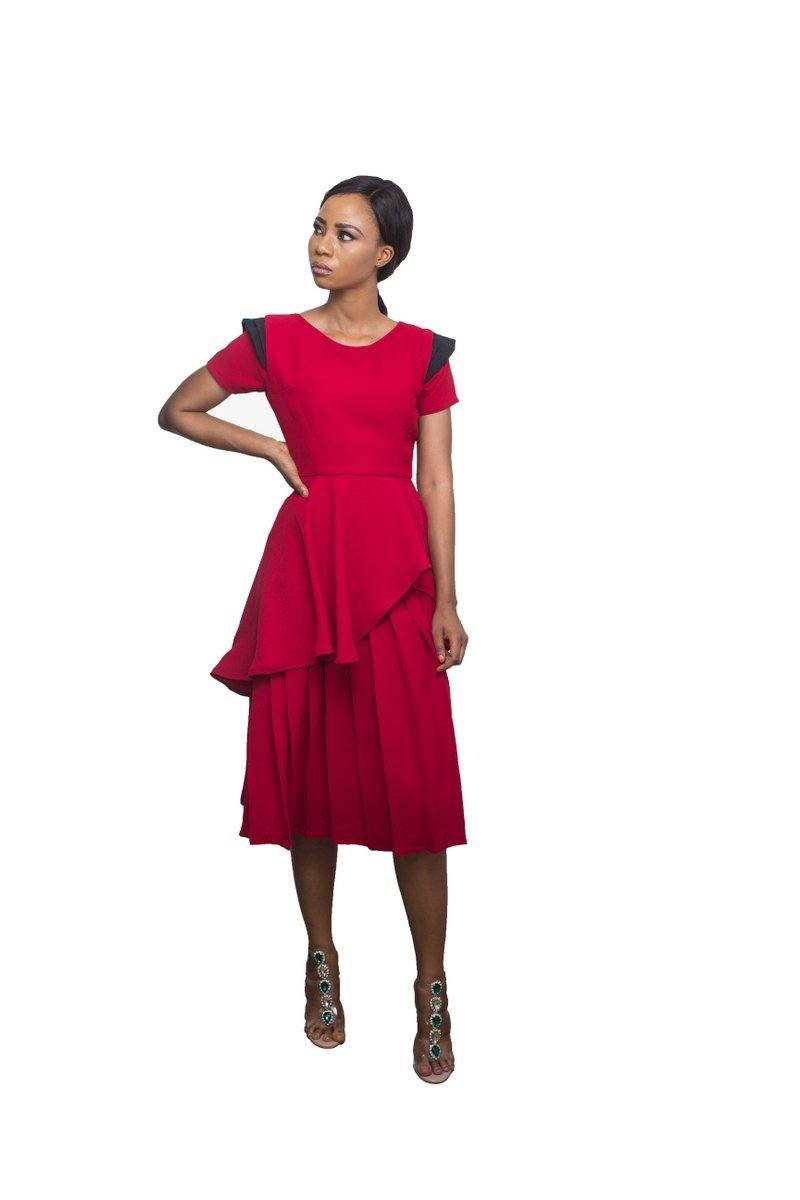 Adéy Soile - Aishah Two-Tier Pleated Dress
