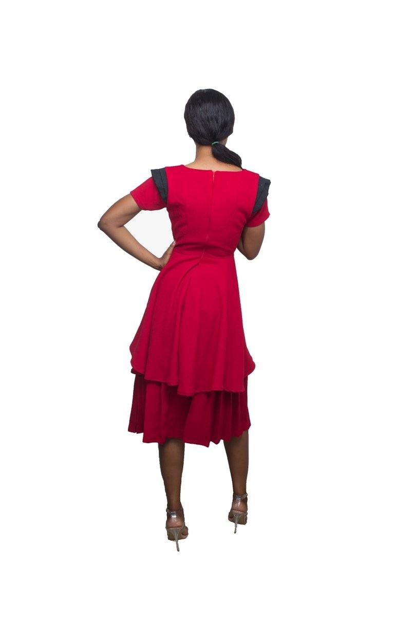 Adéy Soile - Aishah Two-Tier Pleated Dress - waafashion