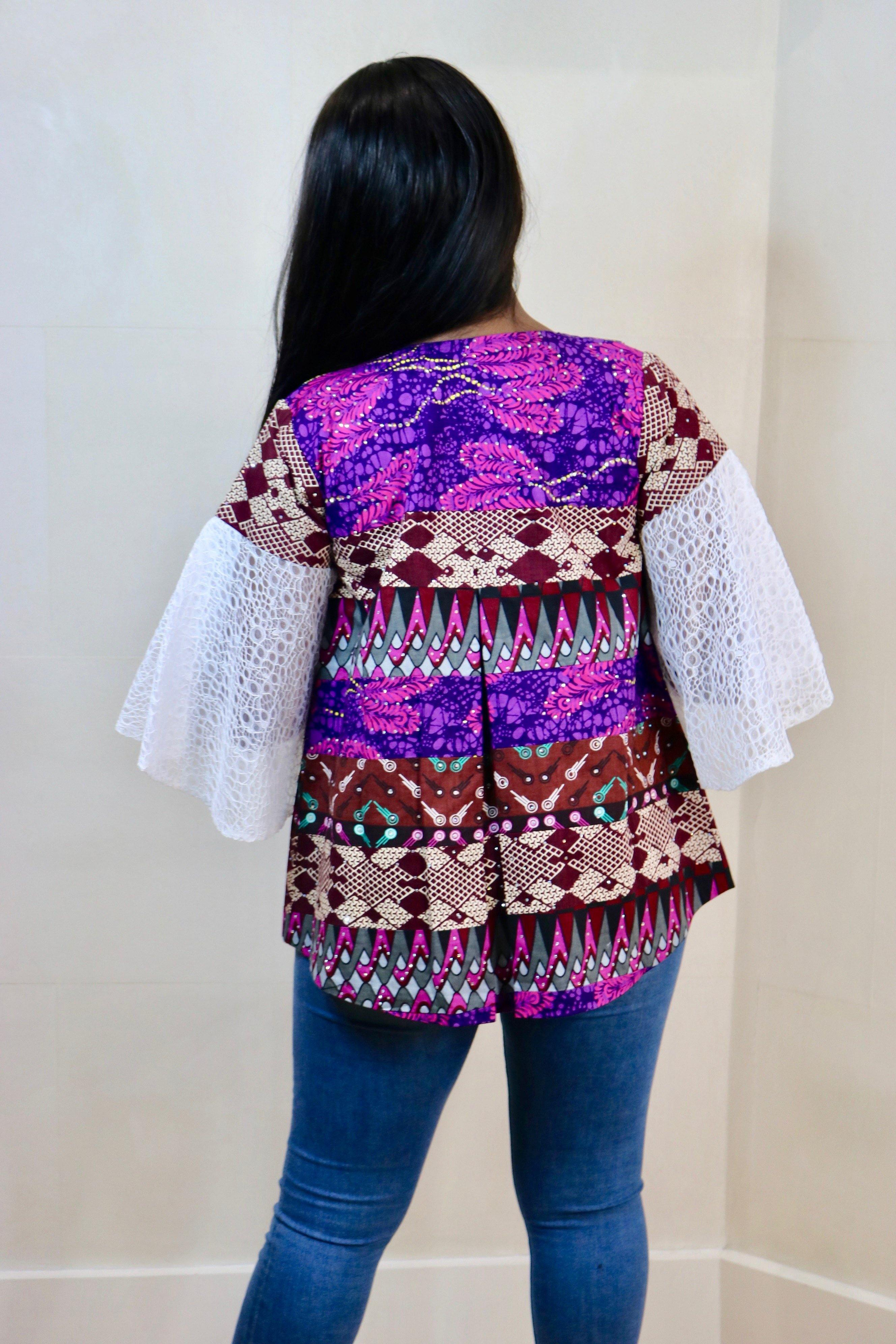 Odeva- Embellished Cape Jacket - waafashion