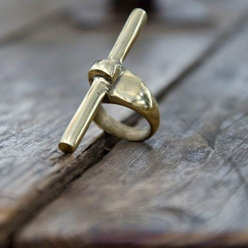 Embody Accessories- Brass Bar Ring - waafashion