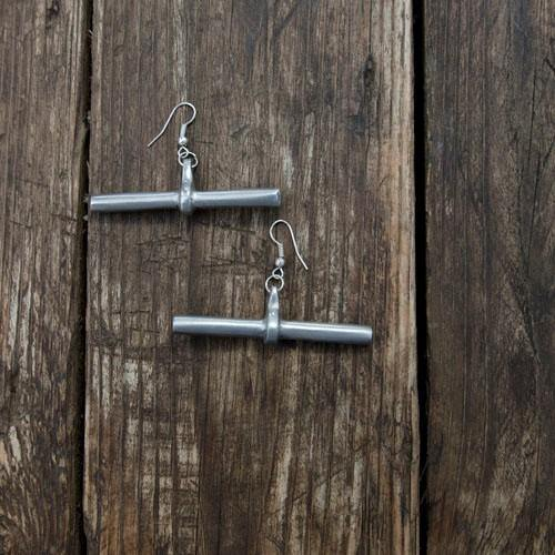 Embody Accessories - Aluminium Drop Bar earring - waafashion