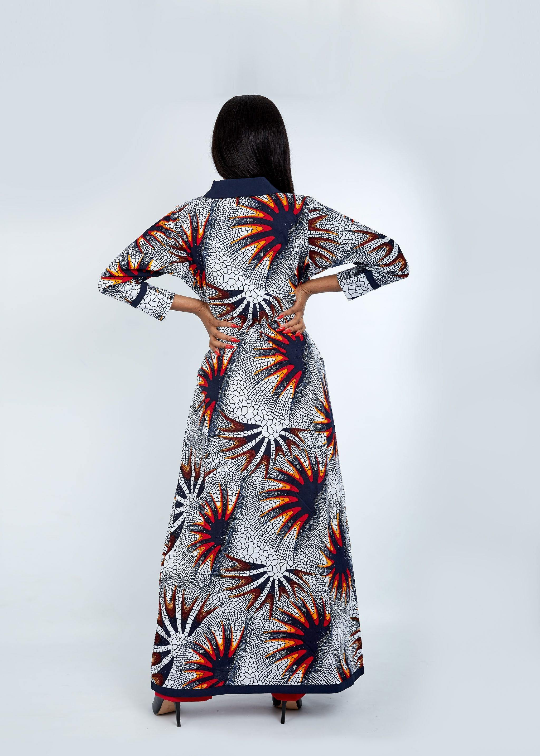 WAA - Long Sleeve Kimono with Contrast Taping