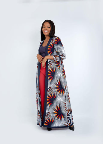 WAA - Kano Long Sleeve Kimono with Contrast Taping - waafashion