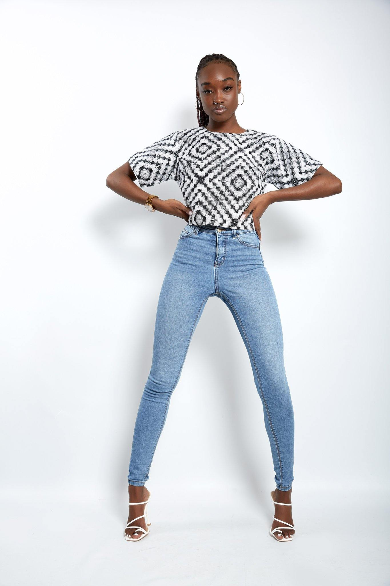 WAA- Dakar African Print Cropped Top - waafashion