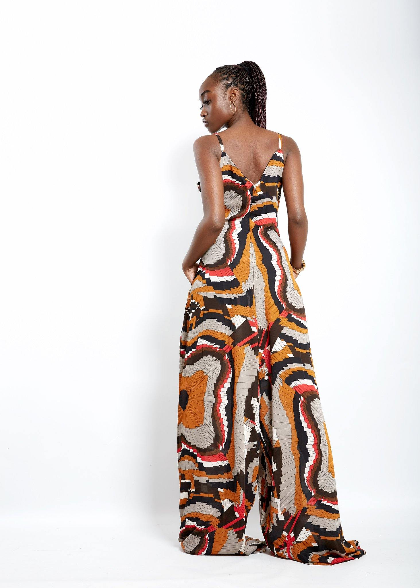 MsbeeFab- Mofe Wide-Leg Jumpsuit - waafashion