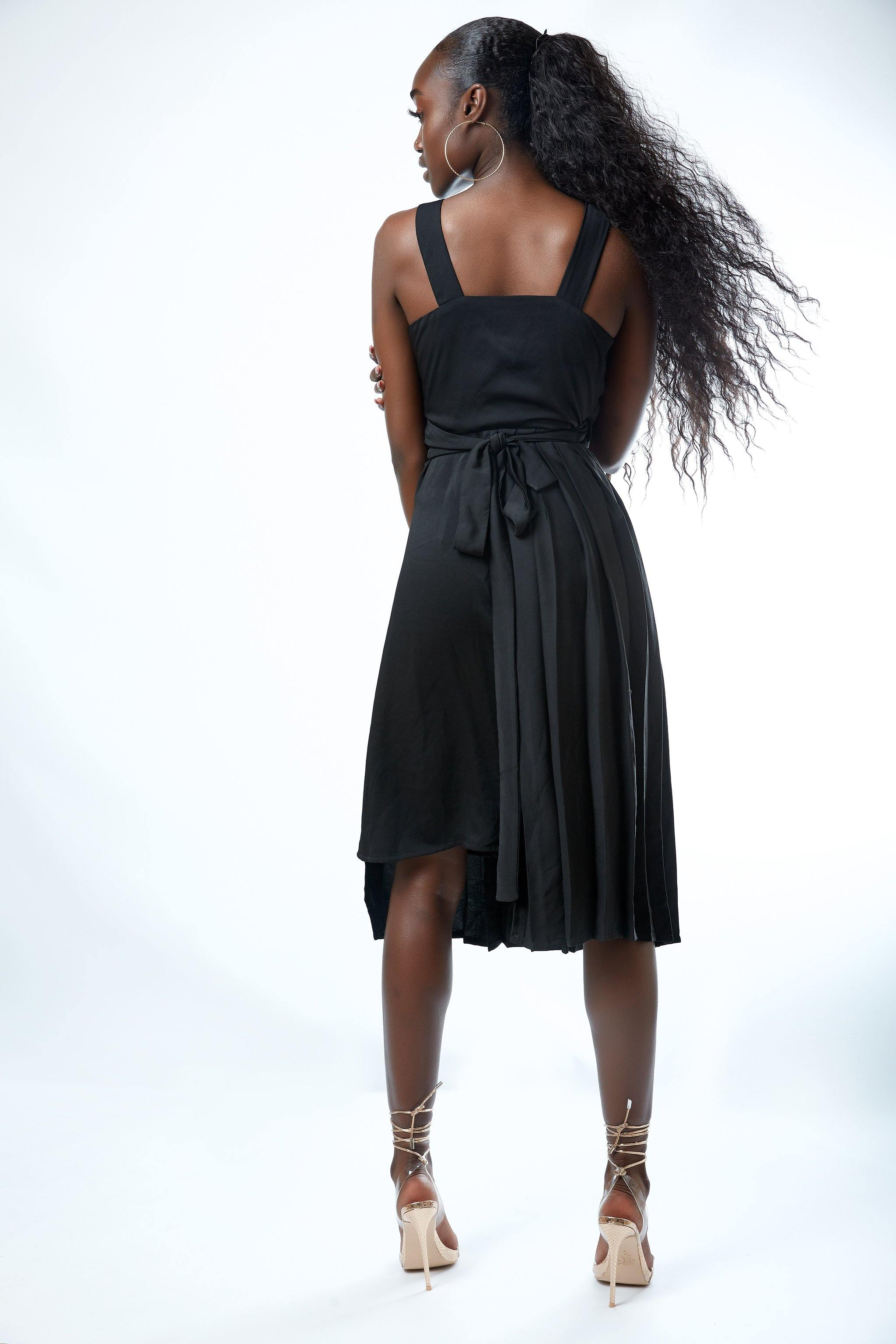 Dema Chena - Suswe Pleated Wrap Dress - waafashion