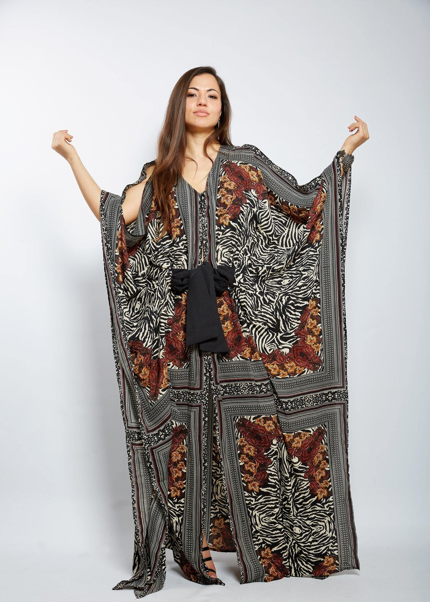 WAA- Ayaba Kaftan with Belt - waafashion