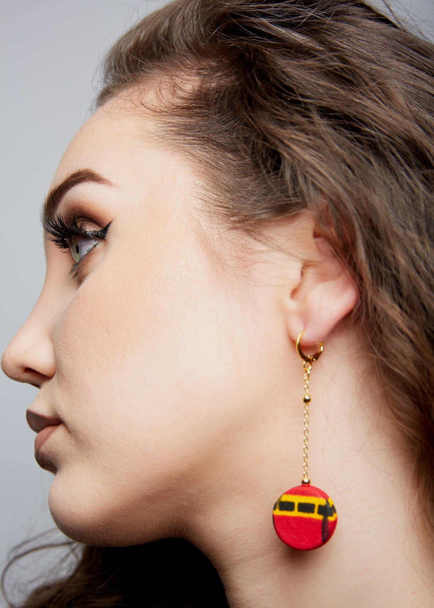 WAA- Chain Drop African Print Earring - waafashion