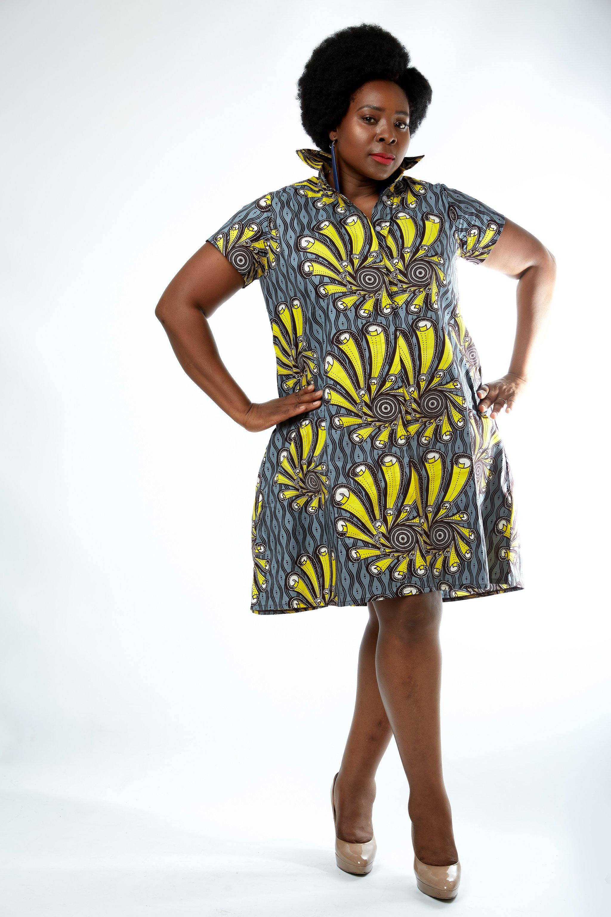 WAA- Yeye Ankara Shirt Dress (Curve) - waafashion
