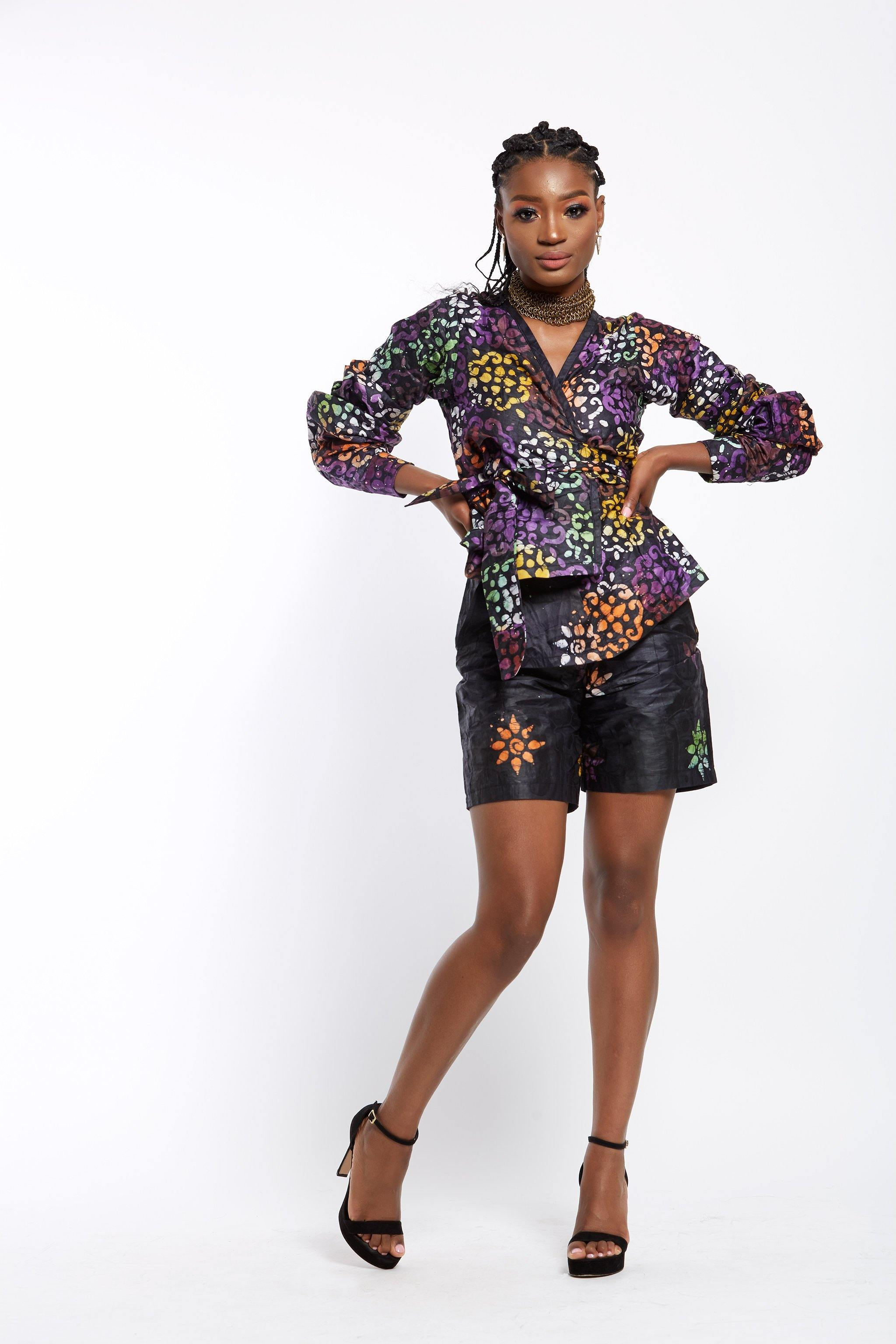 Adey Soile- Adire Tailored Shorts - made in africa- made in Nigeria- African print shorts- waafashion