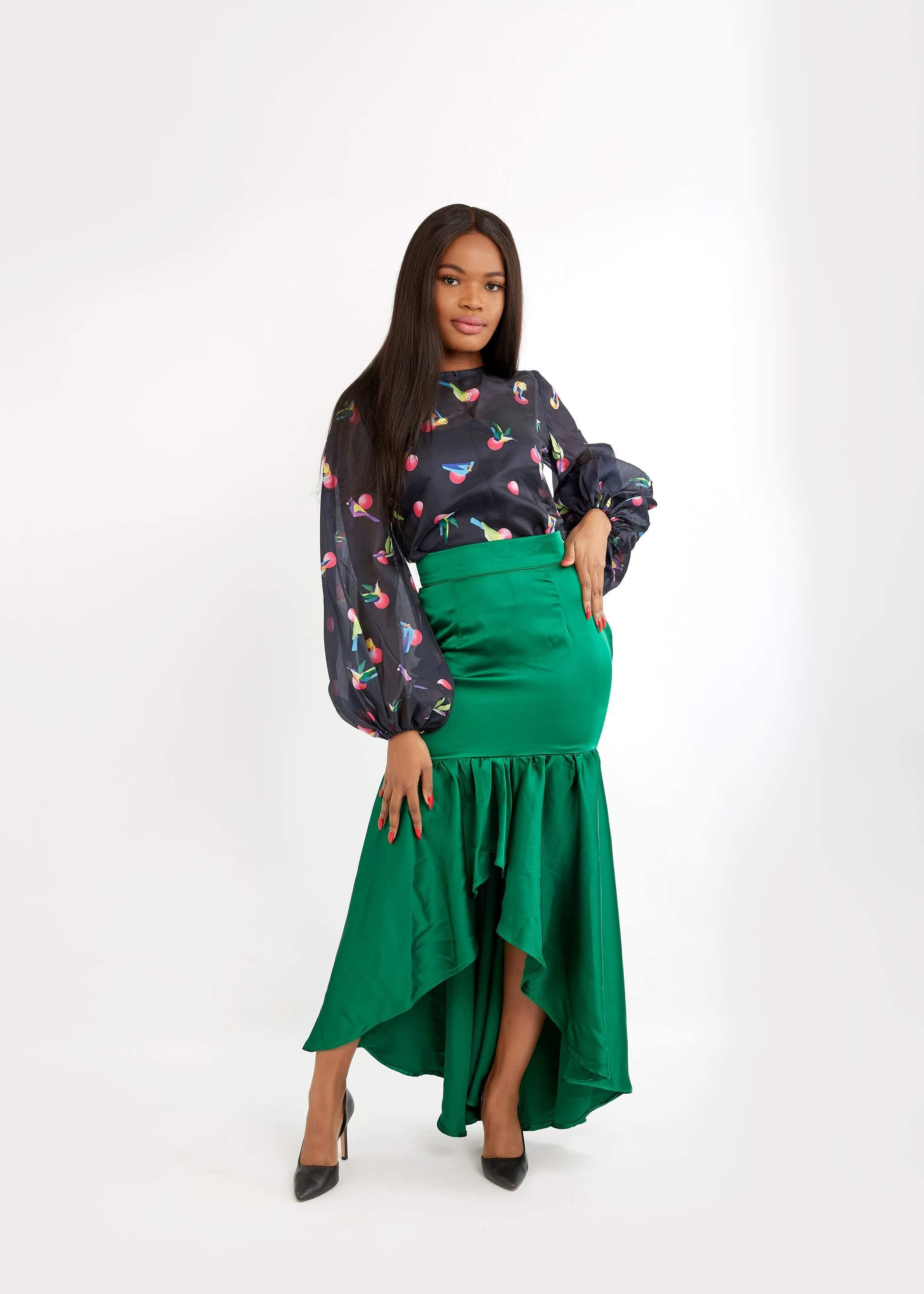 WAA - Satin HI-LOW Skirt - waafashion