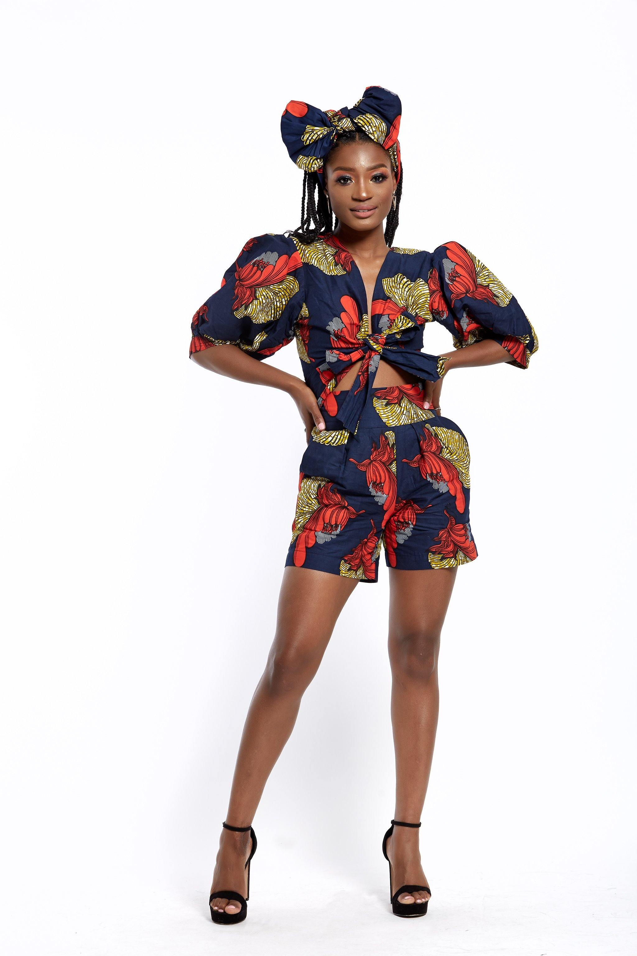 WAA- Ankara Tailored Shorts - waafashion