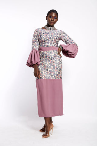 PINK FLEUR- Juliet Sleeve Blouse and Wrapper Set - waafashion
