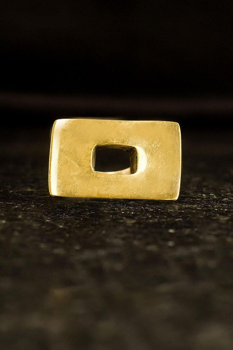 Embody- Brass Rectangular Gap Ring