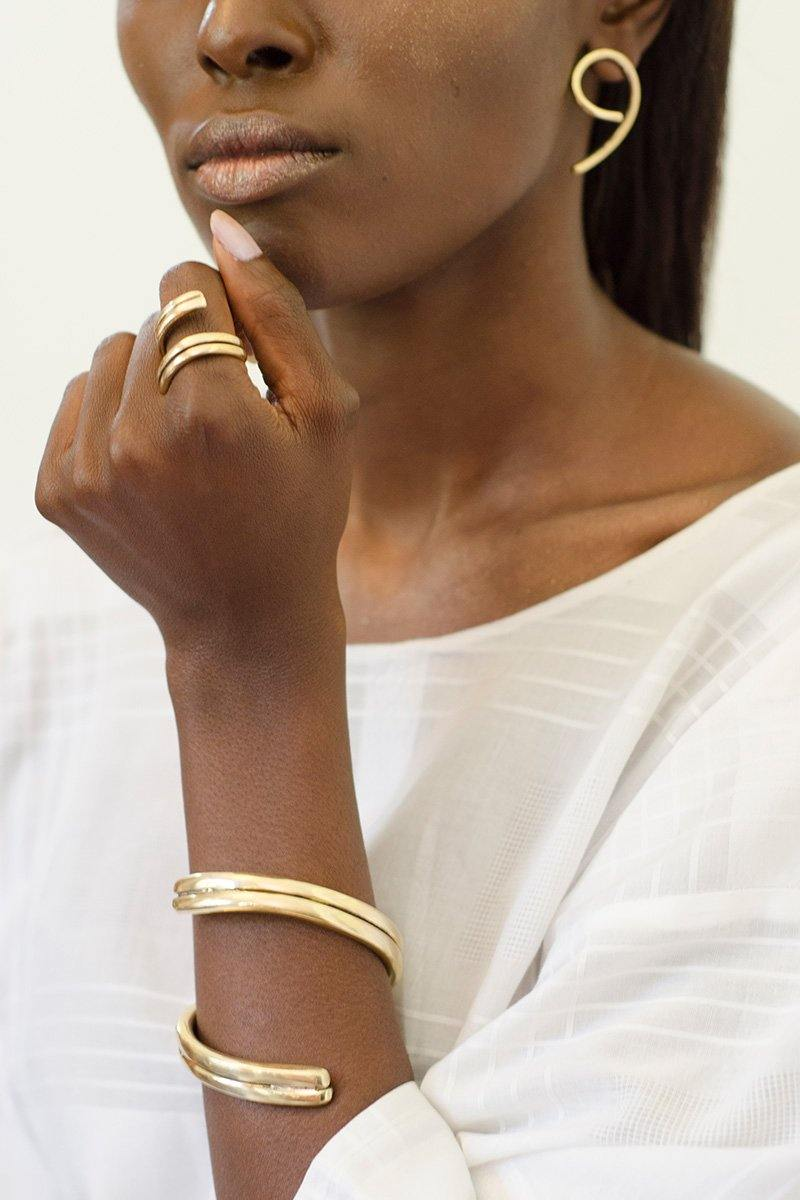 Embody- Brass Escarpment Cuff