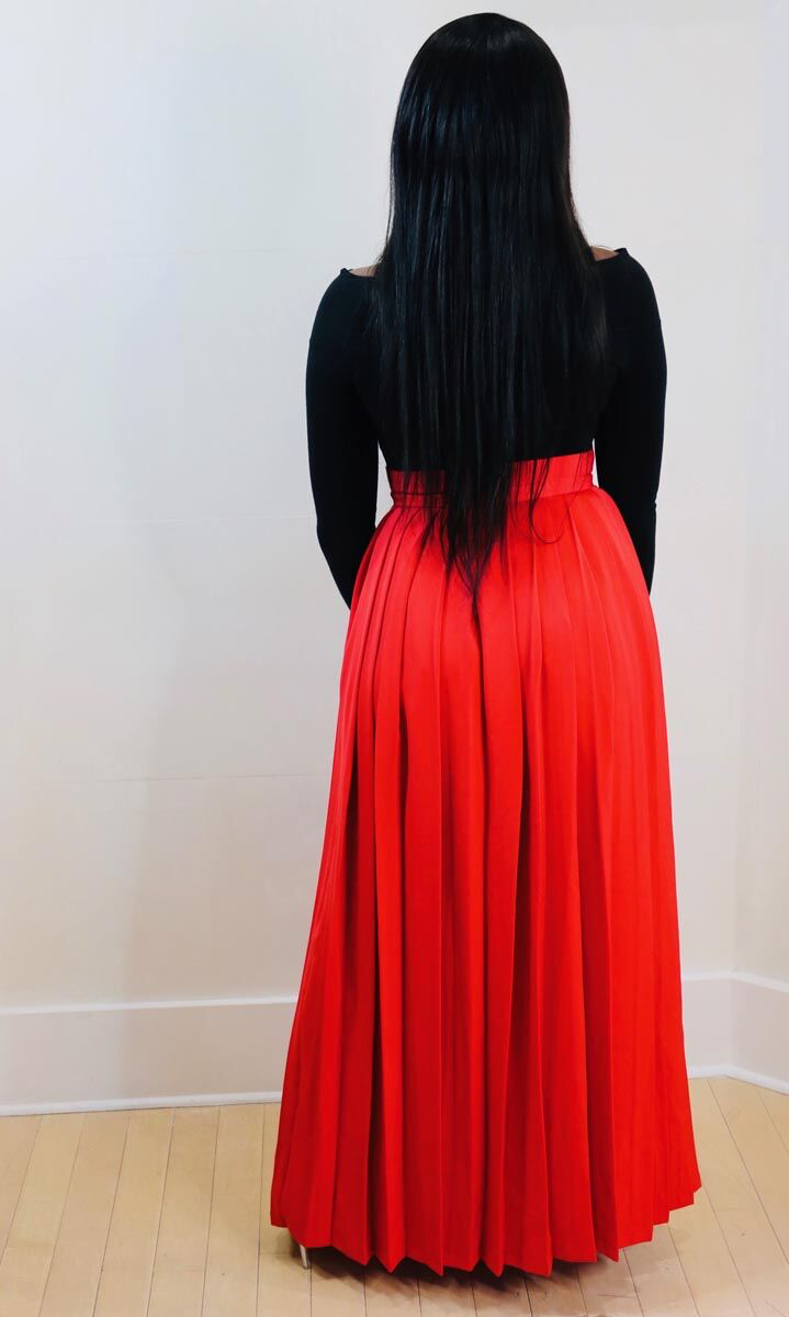 Nuraniya- Pleated Maxi Skirt