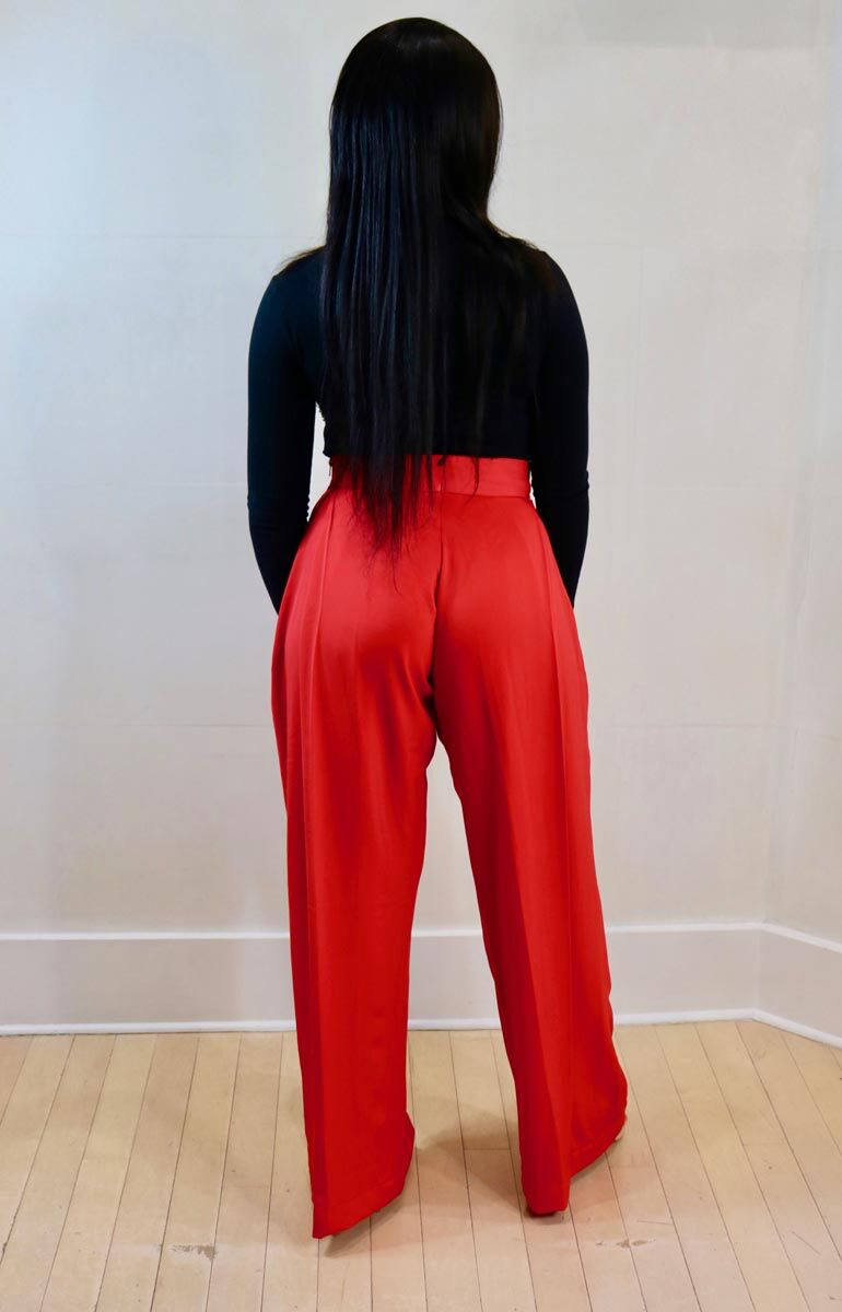 Nuraniya- High Waist Wide Leg Trouser - waafashion